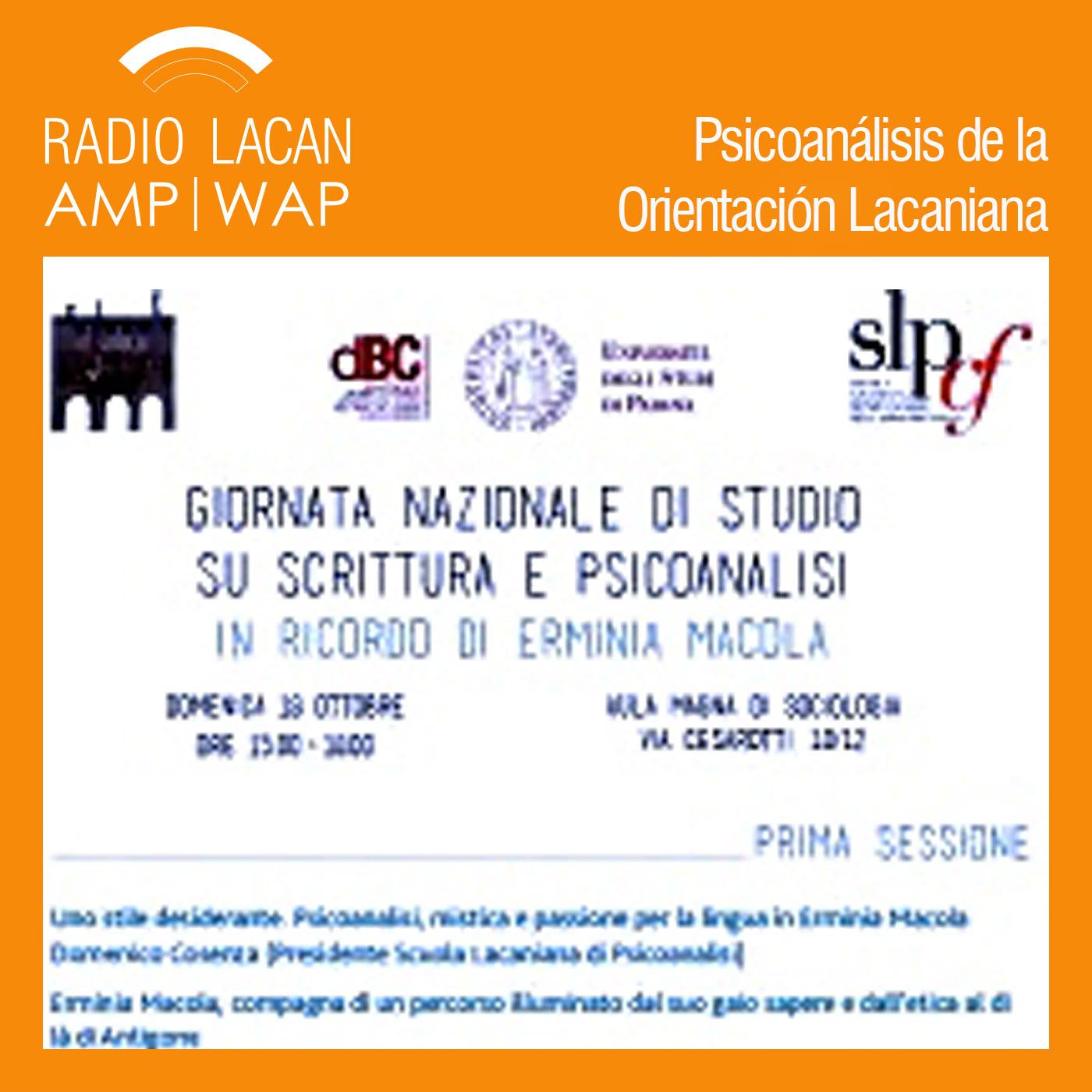 RadioLacan.com | <![CDATA[Jornada Scrittura e Psicoanalisi (Escritura y psicoanálisis) en memoria de Erminia Macola]]>