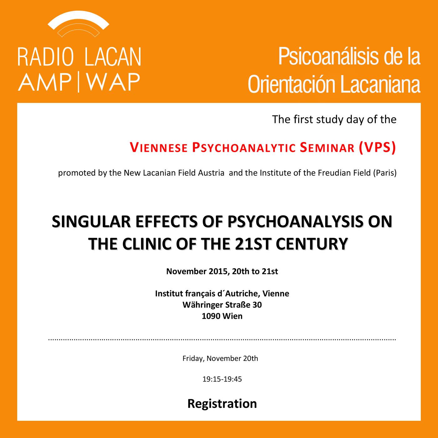 RadioLacan.com | <![CDATA[Primera Jornada del Seminario Psicoanalítico Vienés(VPS): Efectos singulares del psicoanálisis en la clínica del siglo XXI]]>